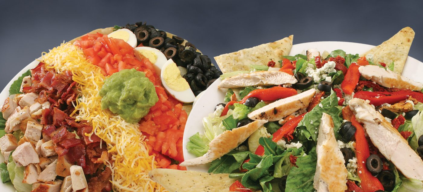 Cobb Salad, California Pizza Salad