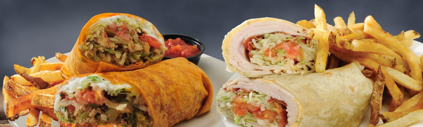 Buffalo Chicken Wrap, Turkey BLT Wrap