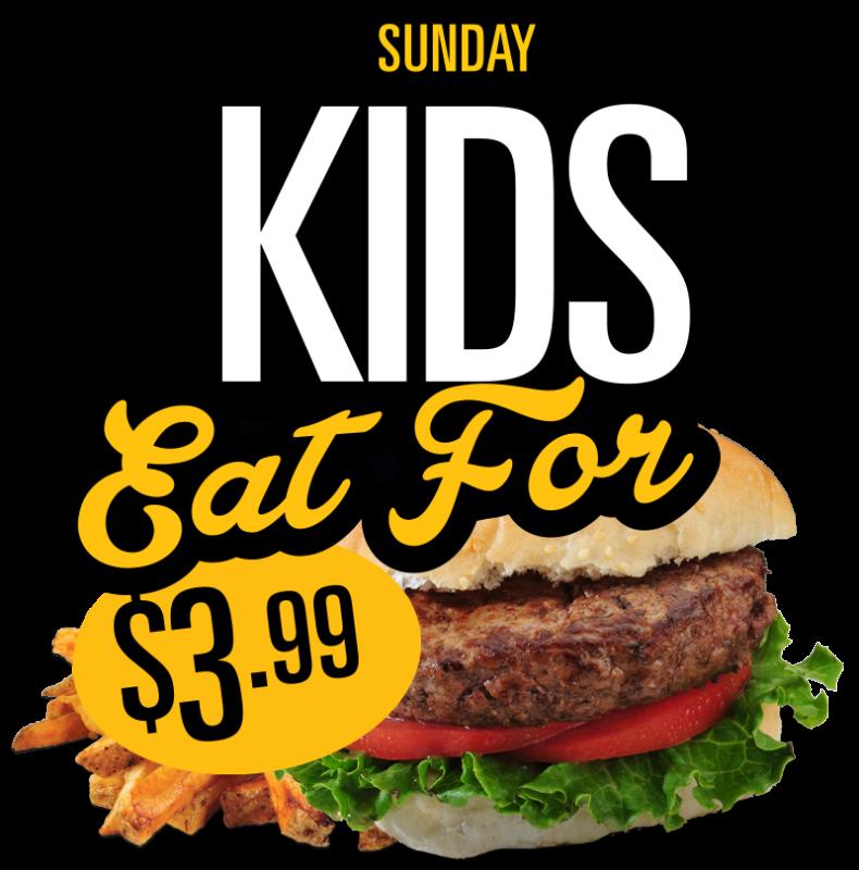 Sunday Kids Eat for 3.99